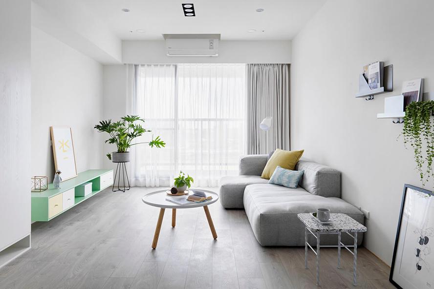 白色画布-90平两居室幸福北欧风
