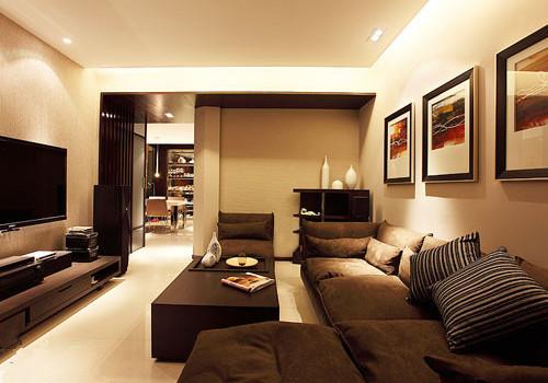 现代简约两室两厅装修 极具设计感的三口之家-彩兔装饰